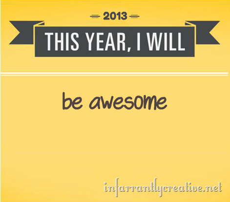 The only resolution worth making, really.